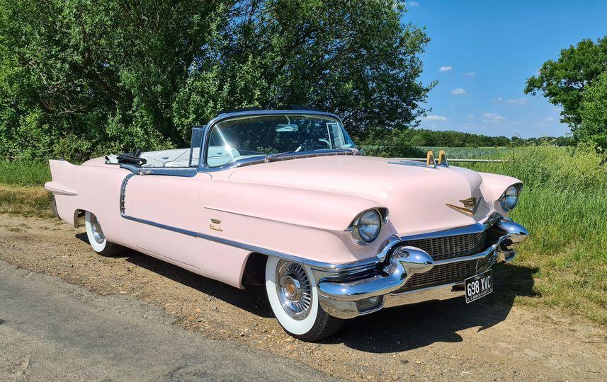 1956 Cadillac Eldorado Biarritz Convertible Pink