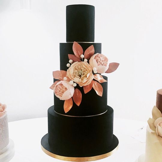 Black and rose gold