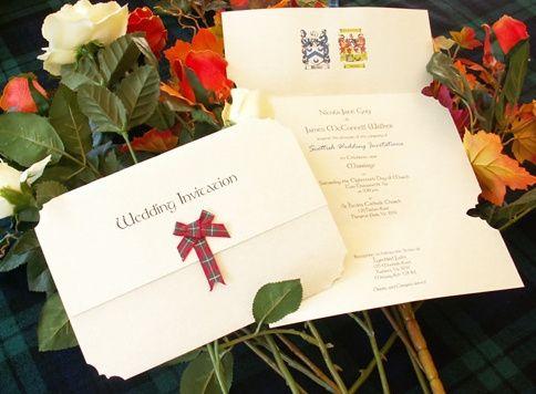 Folded Scottish invitation