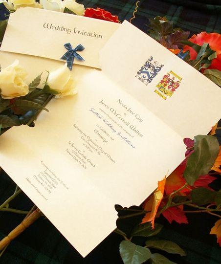 Tartan ribbon and crest
