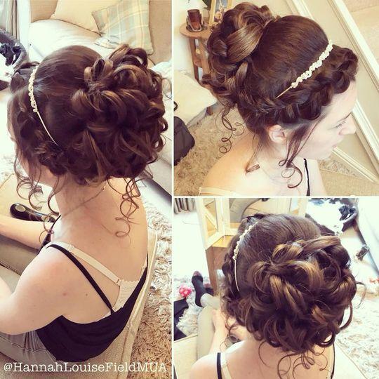 Pretty bridal hairdos
