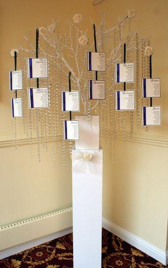 Crystal tree tableplan