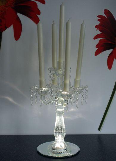 Uplit Glass Candelabra