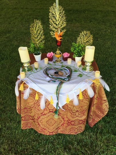 Table ready for a handfasting
