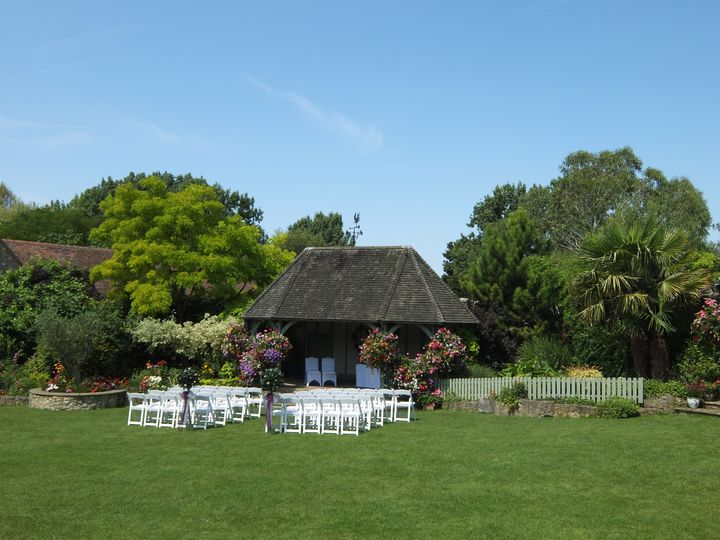 Garden Set Up For Ceremony