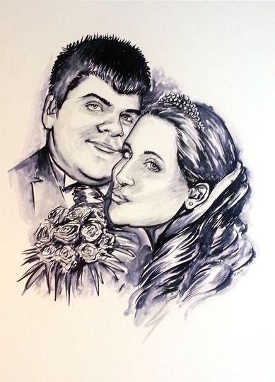 Wedding caricatures - Hire a t