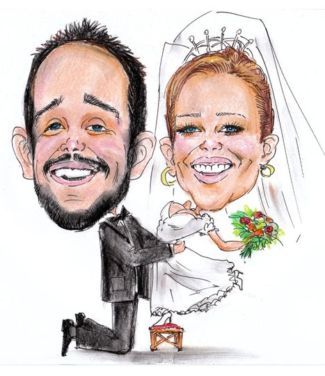 Wedding caricatures from photo