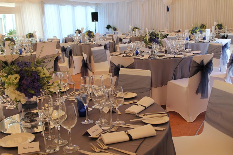 Navy with navy table overlays