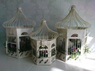 Birdcage Wedding Arrangement