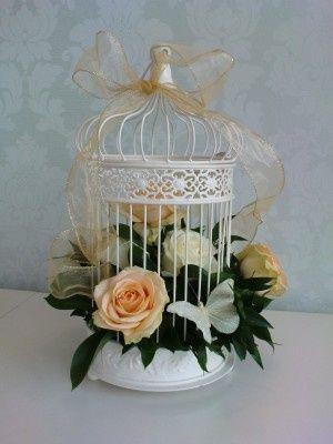 Birdcage Wedding Table Centres