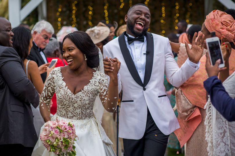 Joy for the newlyweds