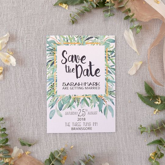 Botanical Luxe Save The Date