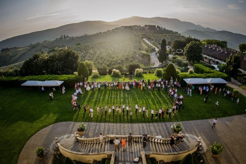 Wedding aerial footage
