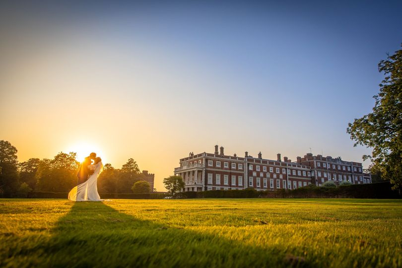 Knowsley Hall Bride & Groom