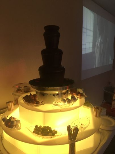 Chocolate Fountain, LED base