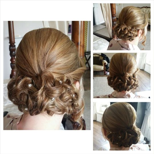 Bridesmaid hairstyling