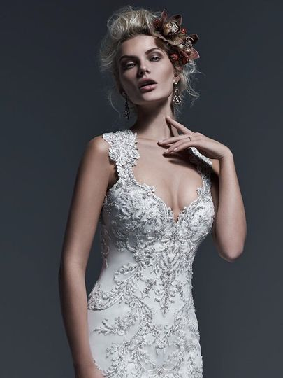 Glamorous wedding attire