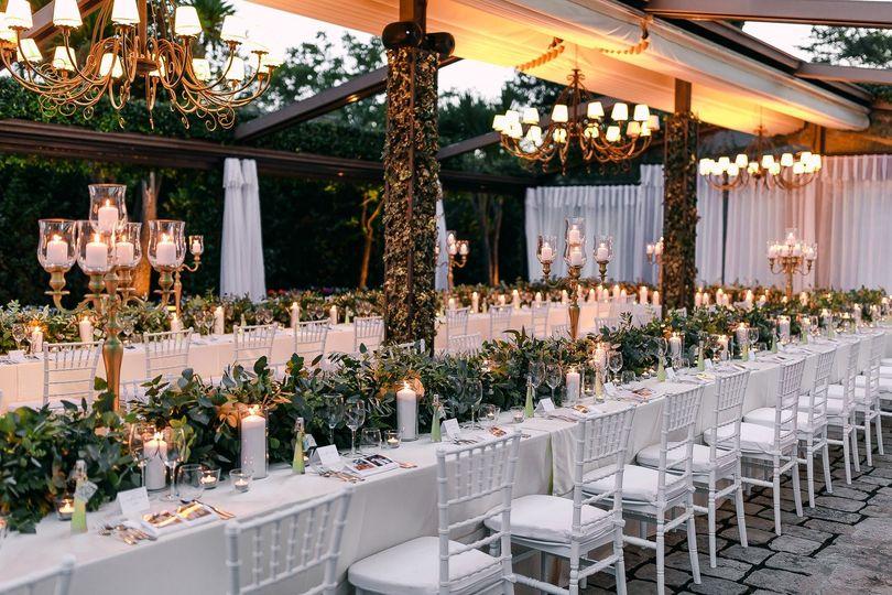 All green classy chandelier