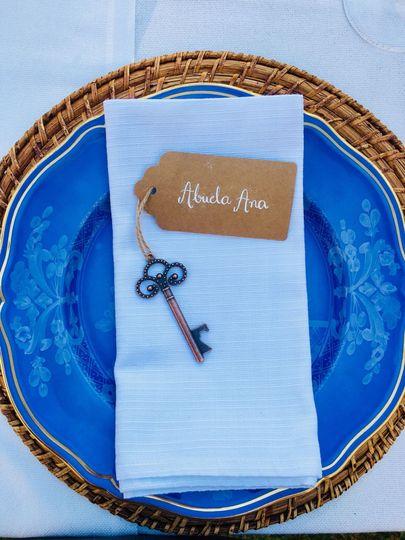 Beautiful blue plates details