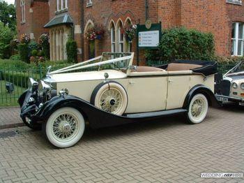 Vintage open-top car