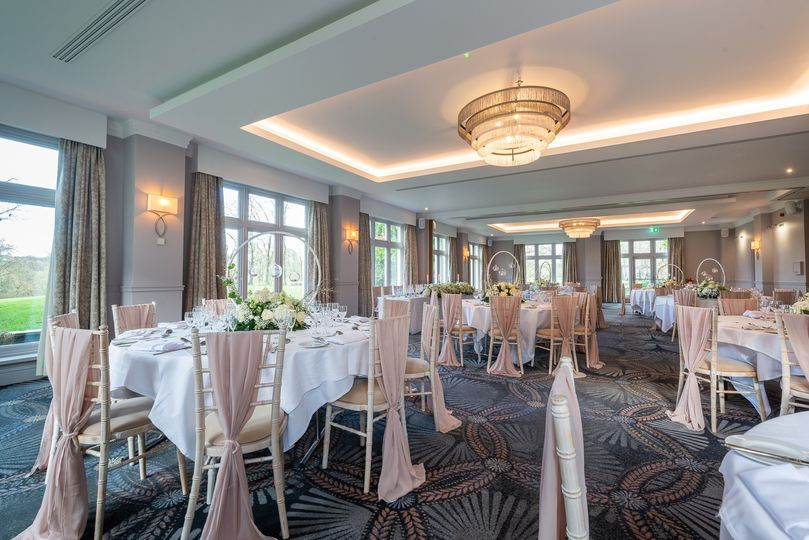 Bright and airy ballroom