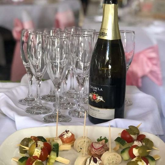 Bubbles and canapes