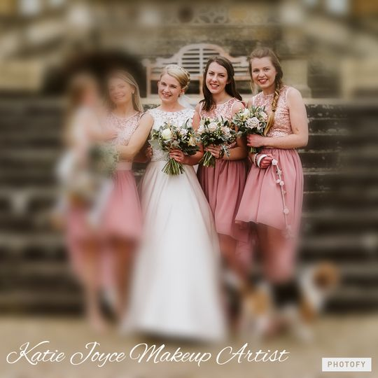 Bride and two Bridesmaids