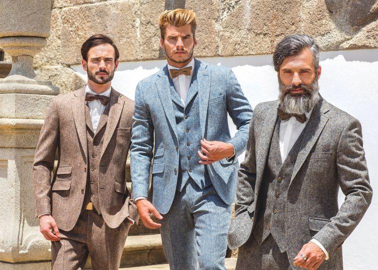 Brown, Blue & Grey Tweed Suits