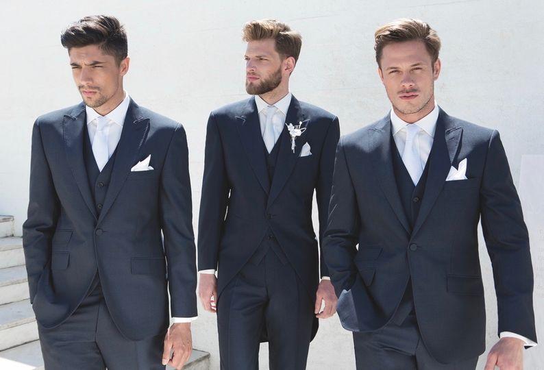 Navy Suit & Tails