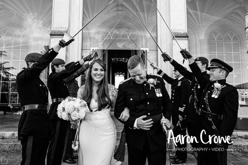 Saluting the newlyweds