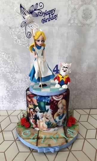 Fantasy birthday cake