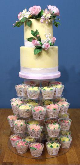 Buttercream wedding cake tower