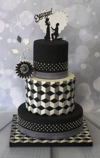 Optical Illusion wedding cake