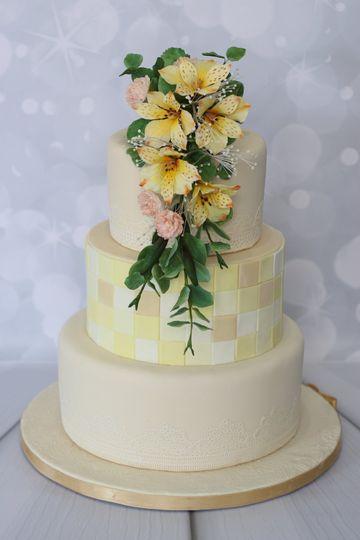 Alstromeria wedding cake