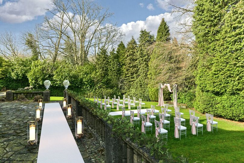 Space for mingling outdoors