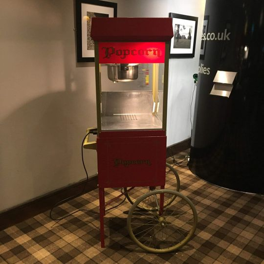 Popcorn cart!