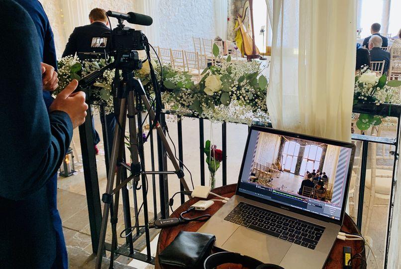 Wedding ceremony streaming