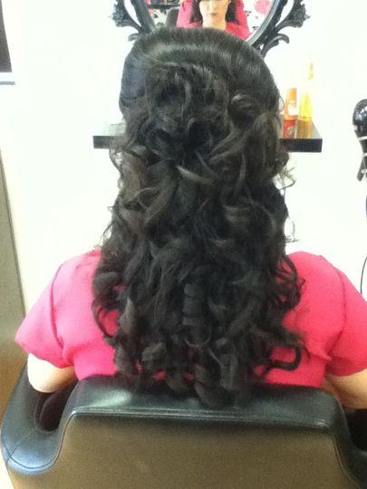 Formal updo curls