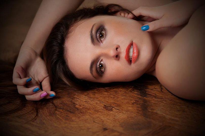 Makeup and hair photo shoot