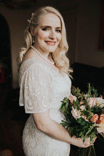 Elegant, classic bridal look