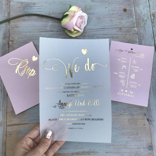 Bespoke wedding invites
