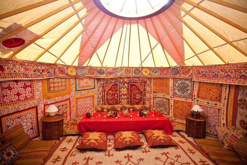 Decorative Hire Hooe's Yurts 6