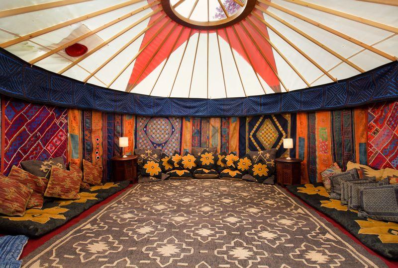 Decorative Hire Hooe's Yurts Furnishings 18