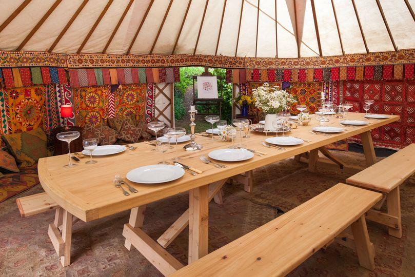 Decorative Hire Hooe's Yurts Furnishings 21