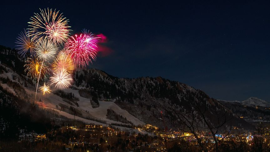 Fireworks in the moutains