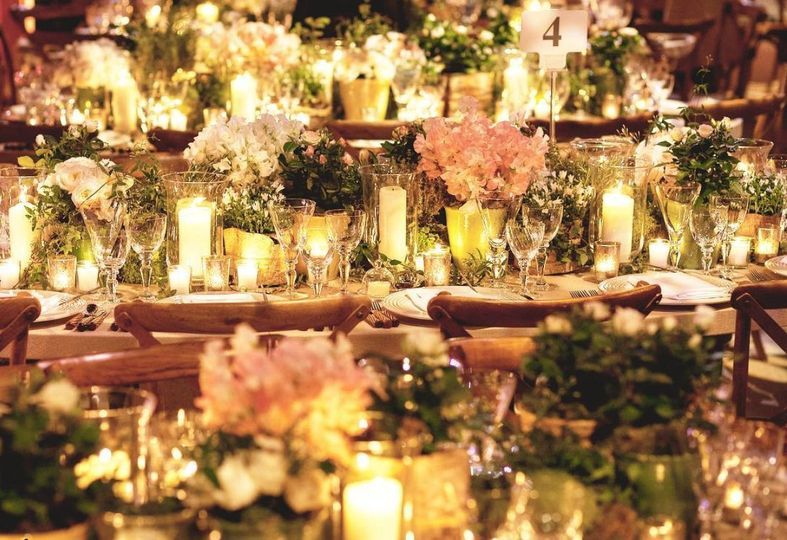 Candlelit reception