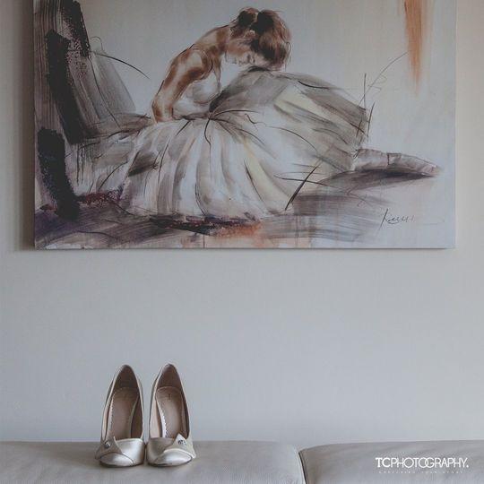 Ballet dream wedding shoes