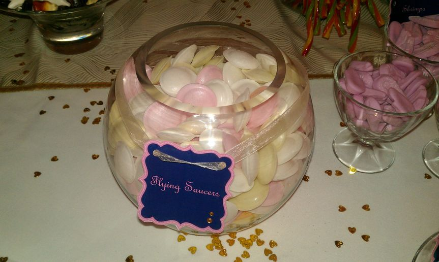 Fish bowl of flying saucers
