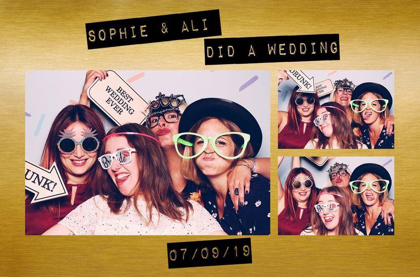 Wedding photo booth keepsake