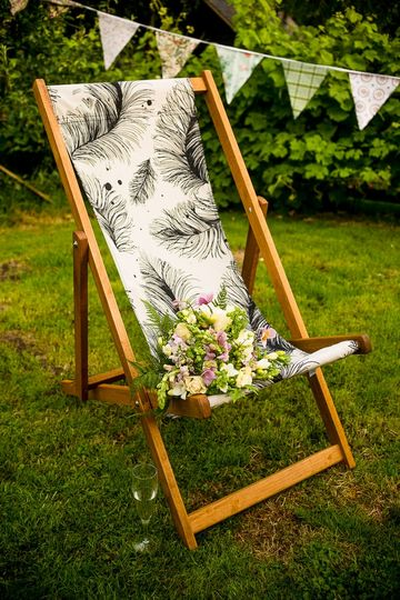 Deckchair and flowers